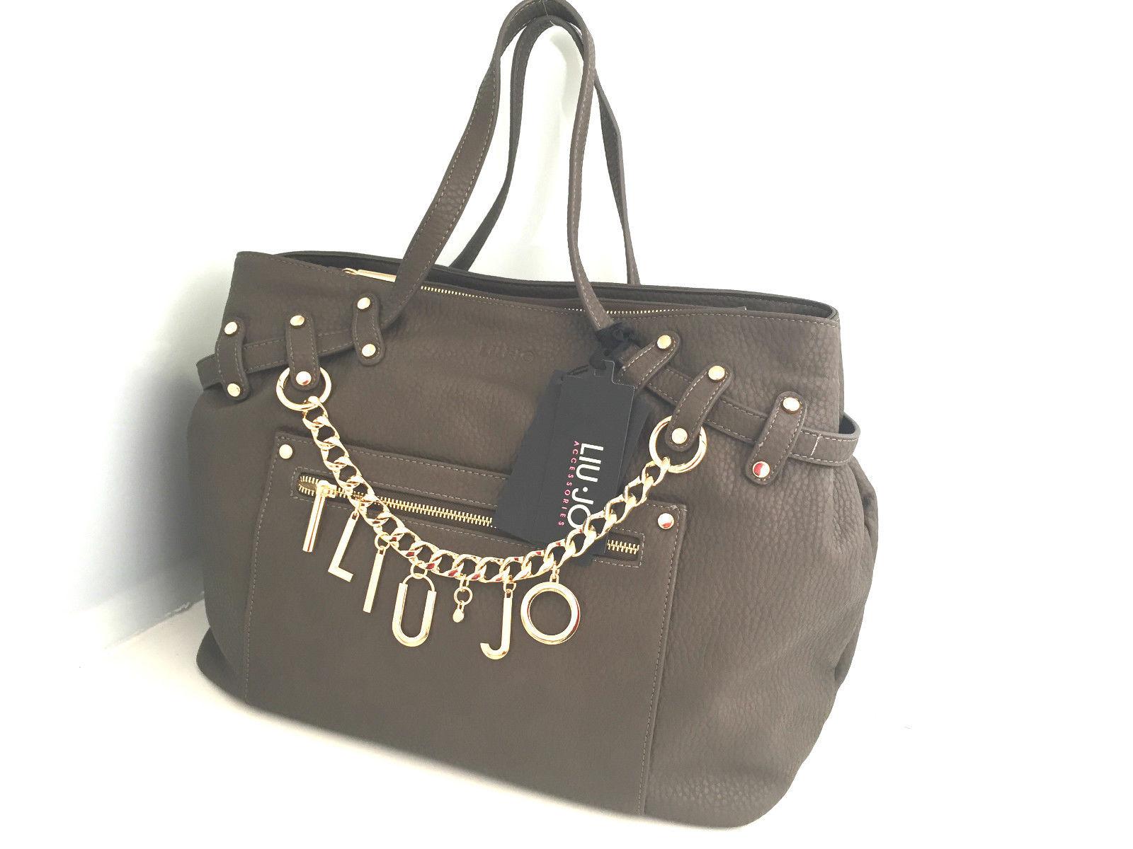 Borsa Liu Jo Shopping Andromeda Brown con charms a prezzo scontato!! 34c6bf121e5