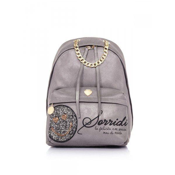 ... backpack-smiley-smile-le-pandorine-grigio ... 38ad2789fbc